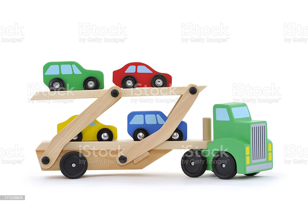 Toy truck with clipping path royalty-free stock photo