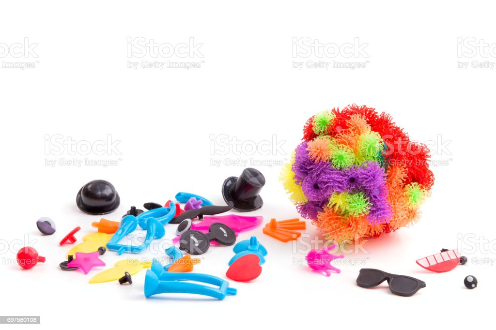 Toy Velcro in the hands of a child stock photo