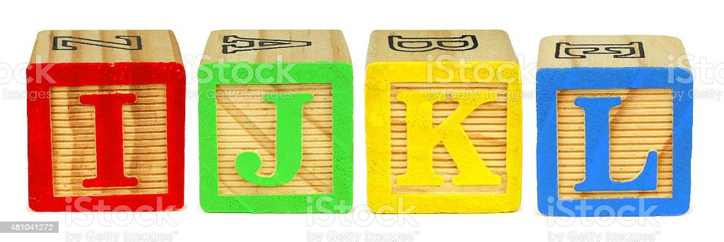 toy wooden letter blocks i j k l royalty free stock photo