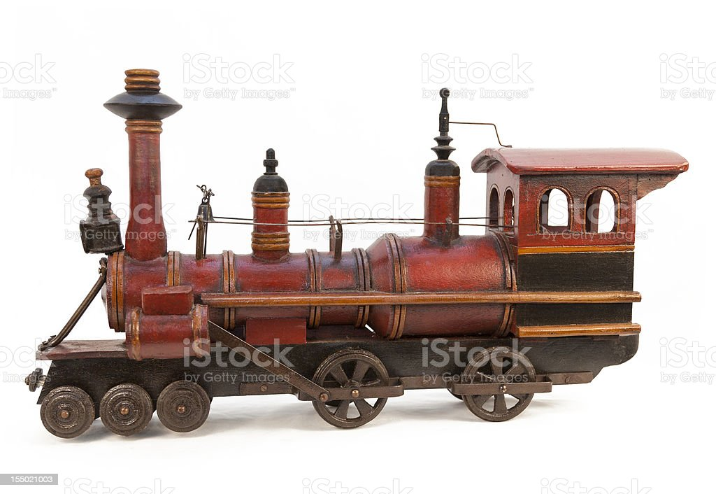 Toy Wooden Model Train stock photo