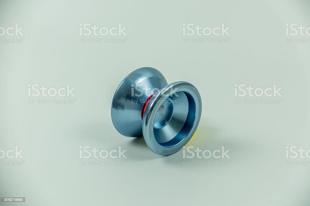toy yo yo isolated on white background stock photo