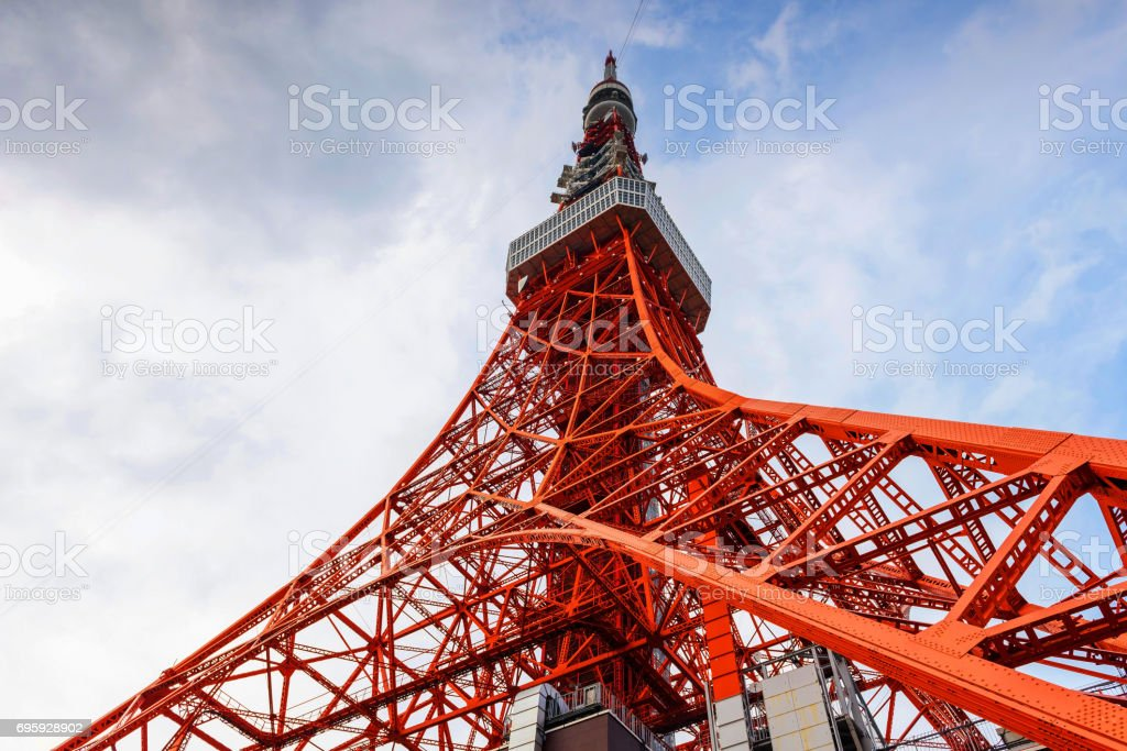 Toyko Tower against blue sky stock photo