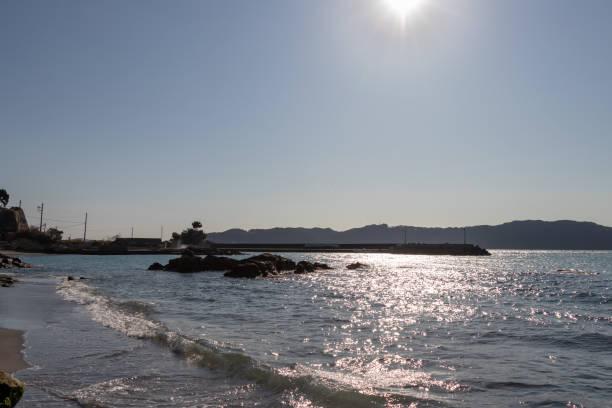 Toyooka Beach in Minami Boso City, Chiba Prefecture, Japan stock photo