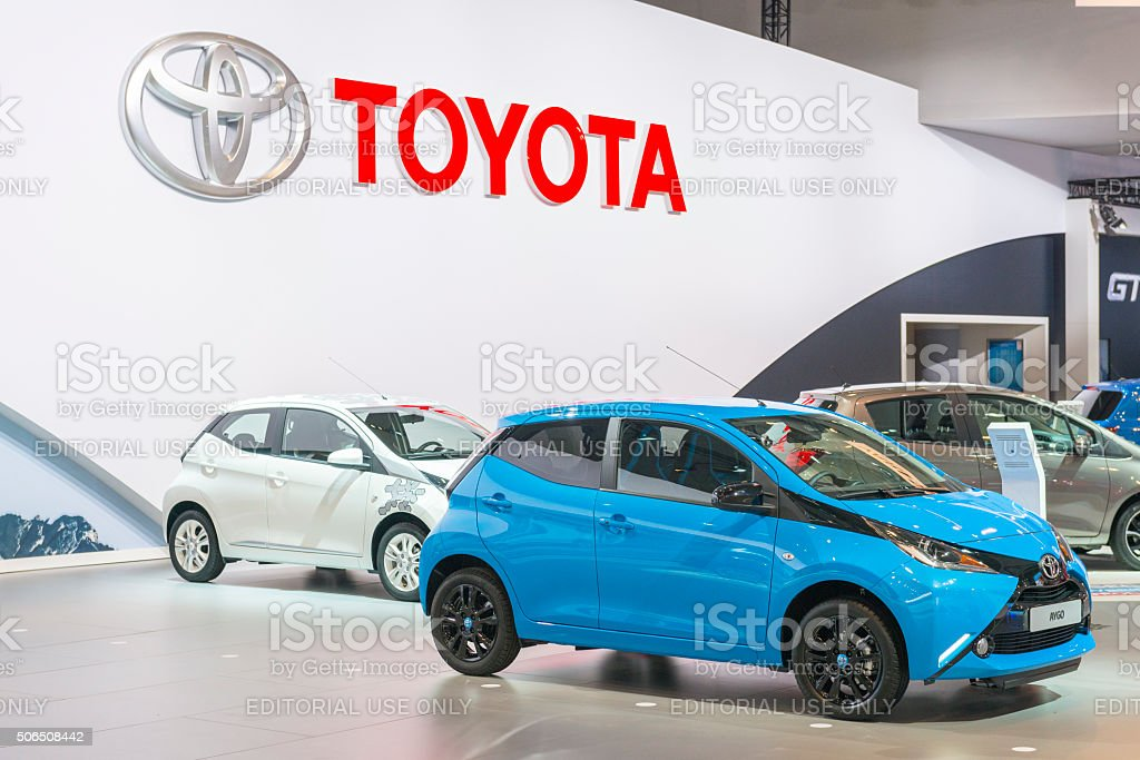 Toyota Aygo compact city car stock photo