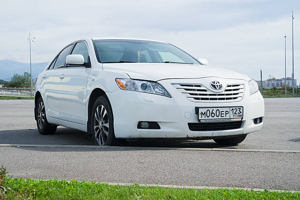 Toyota Camry parked. stock photo
