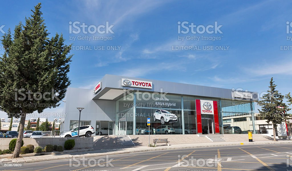 Toyota car centre in Paphos, Cyprus stock photo