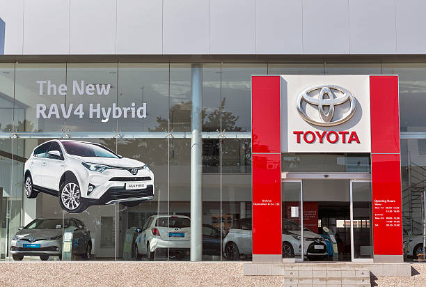 toyota car centre in paphos, cyprus - トヨタ ストックフォトと画像