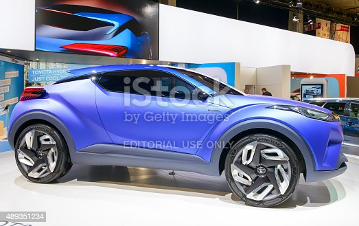 toyota chr hybrid crossover concept car stock photo more pictures of 2015 istock. Black Bedroom Furniture Sets. Home Design Ideas