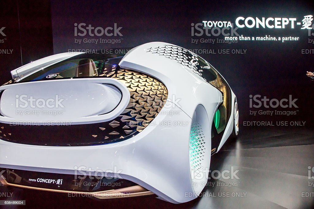 Toyota Concept Car at CES 2017 stock photo