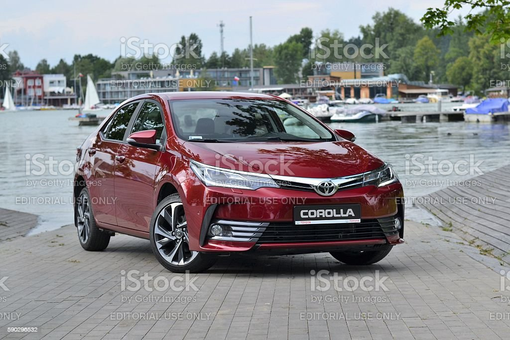 Toyota Corolla - the newest generation stock photo