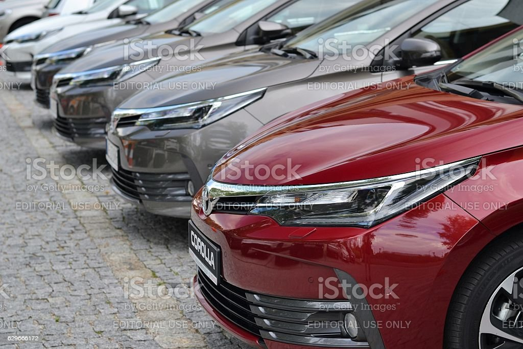 Toyota Corolla vehicles stock photo