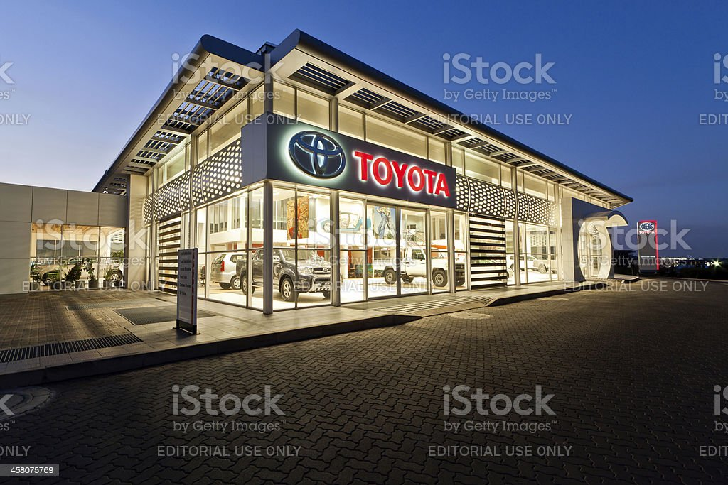 Toyota Dealerhsip in Pretoria, South Africa stock photo