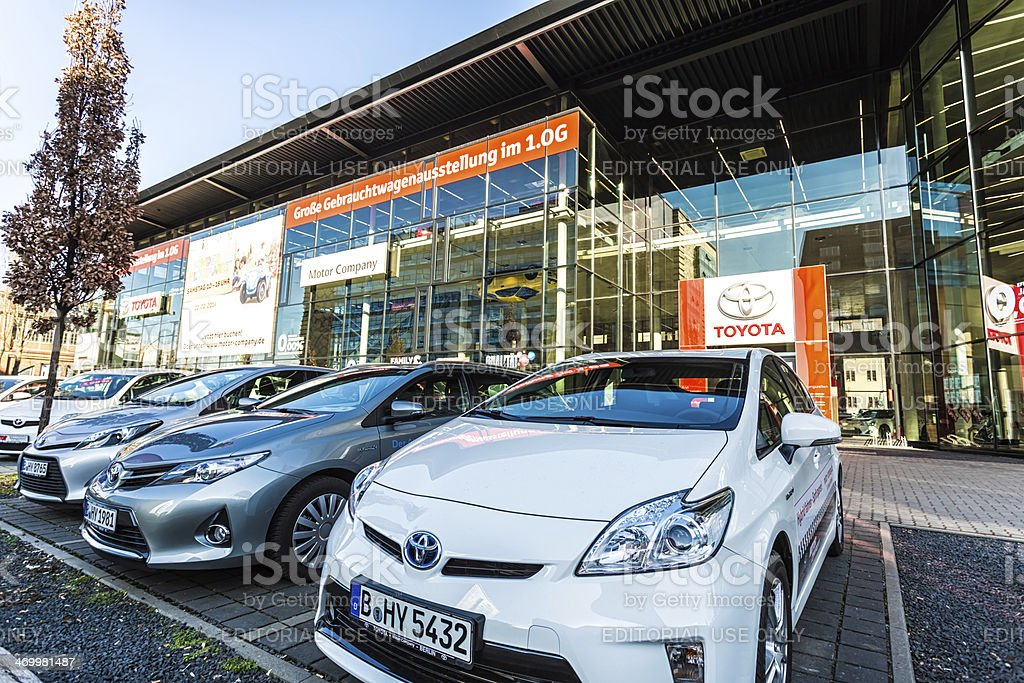 Toyota Dealership in Berlin stock photo