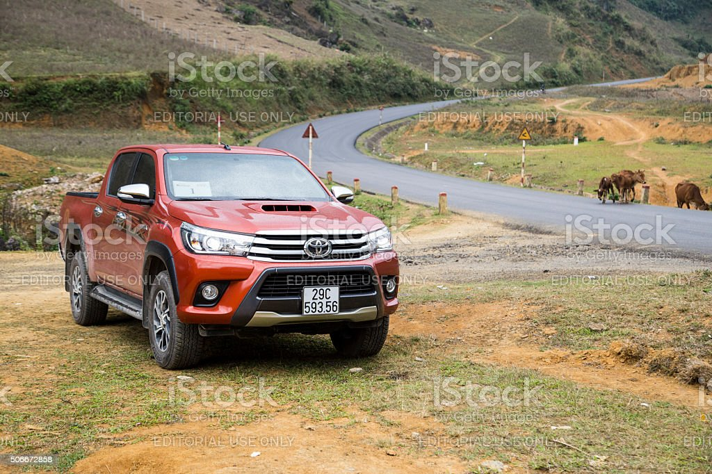 Toyota Hilux 2015 car stock photo