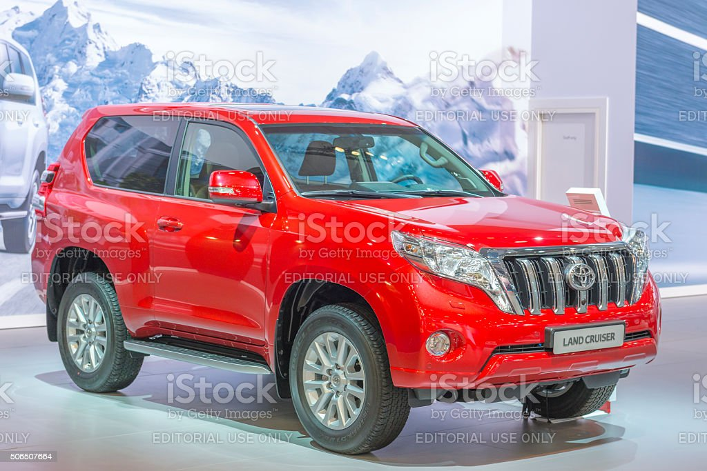 Toyota Land Cruiser 4WD off road vehicle stock photo