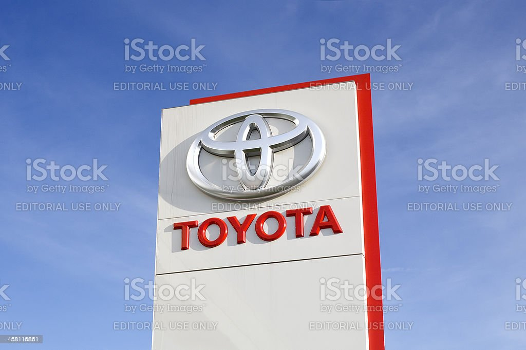 Toyota logo stock photo