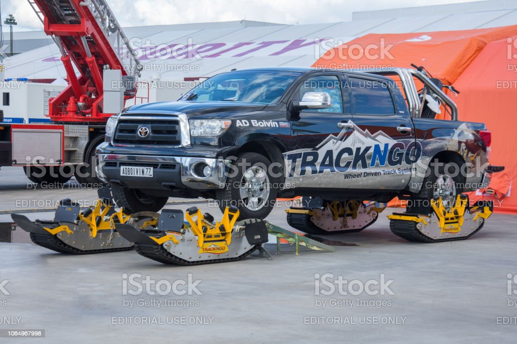 Toyota Pickup With Interchangeable Track System For Allterrain Wheels Russia Moscow 22 August 2018 Stock Photo Download Image Now Istock