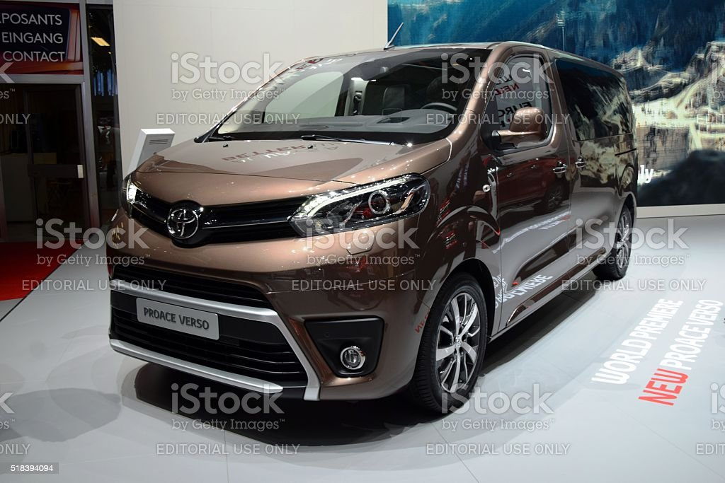 Toyota Proace on the motor show stock photo
