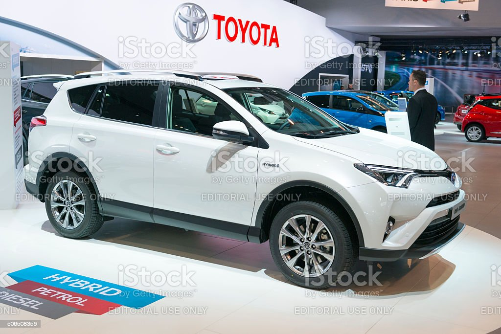 Toyota RAV4 Hybrid crossover SUV stock photo