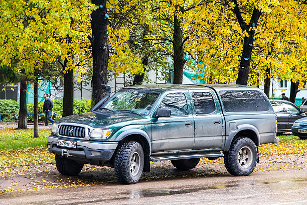 Toyota Tacoma Ufa, Russia - October 2, 2011: Pickup truck Toyota Tacoma is parked in the city street. tacoma stock pictures, royalty-free photos & images