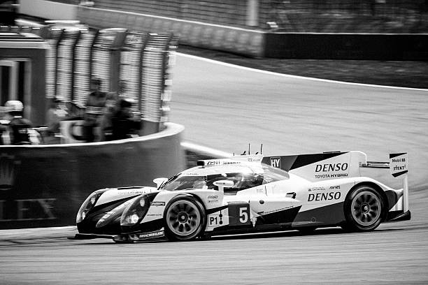 toyota ts050 hybrid lmp1 race car - spa belgium stock photos and pictures