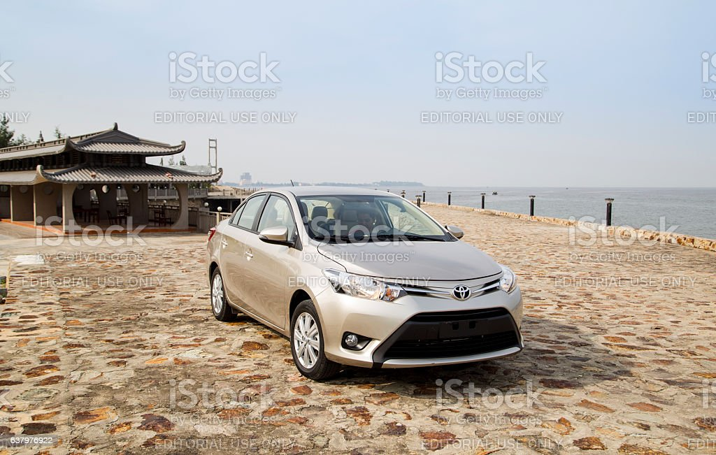 Toyota Vios 2016 car stock photo