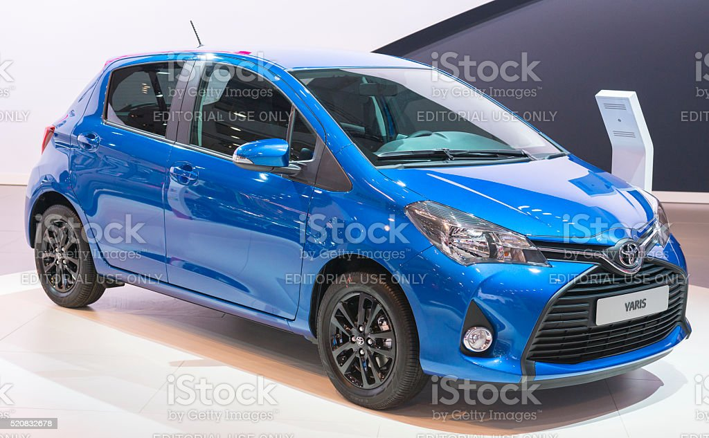 Toyota Yaris compact hatchback car stock photo