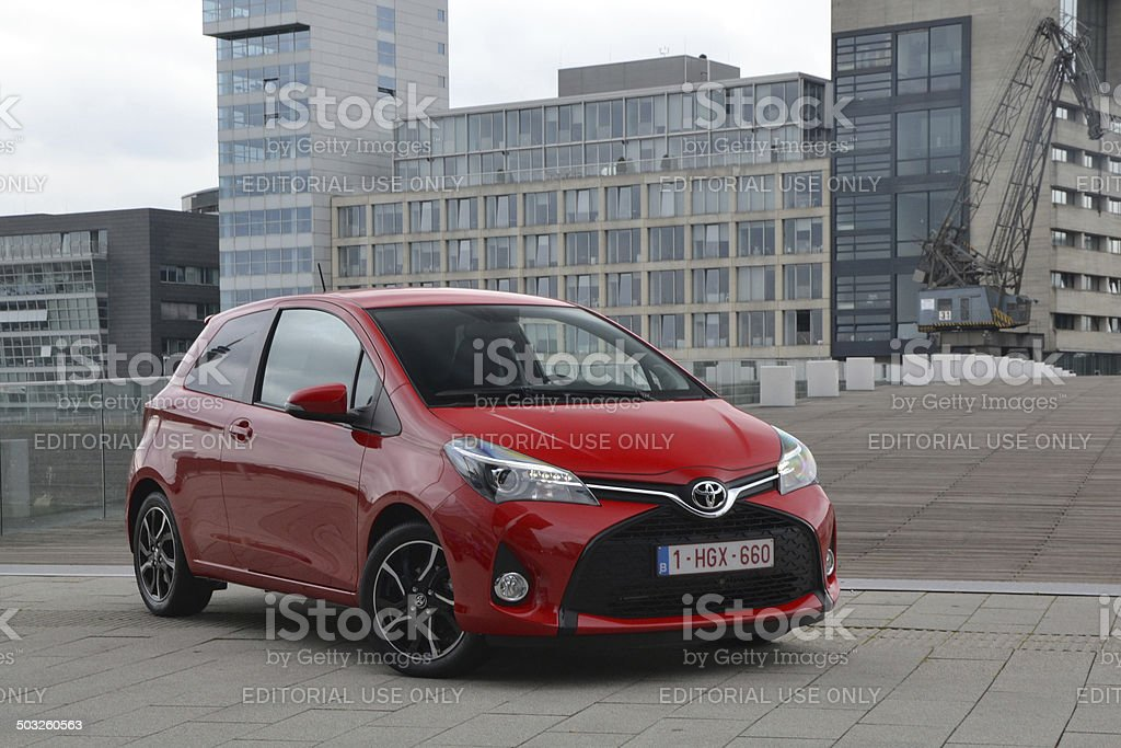 Toyota Yaris FL at the international press launch stock photo