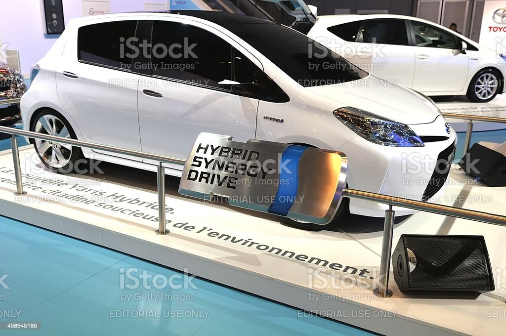 Toyota Yaris Hybrid stock photo