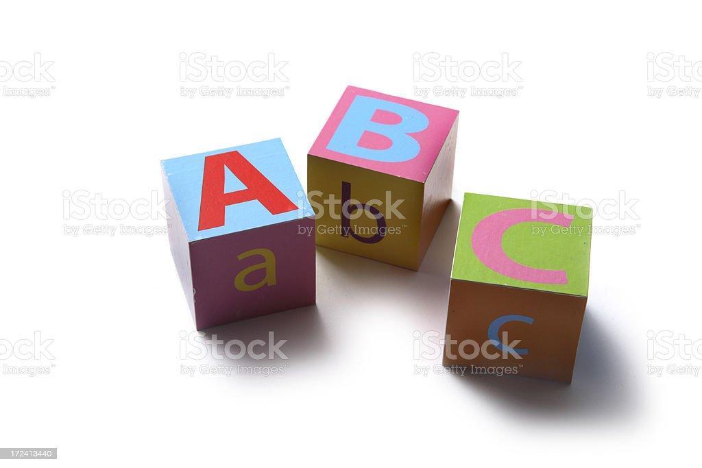 Toys: Alphabet Blocks ABC royalty-free stock photo