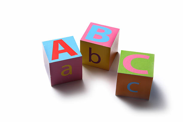 toys: alphabet blocks abc - alphabetical order stock pictures, royalty-free photos & images