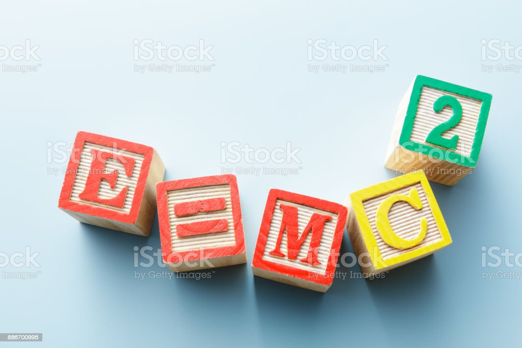 Jouets: Alphabet Blocks - E = MC2 Still life - Photo
