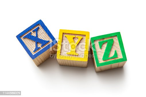 Toys: Alphabet Blocks - XYZ Isolated on White Background