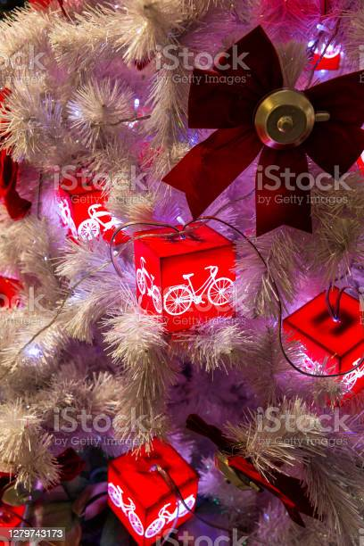 Photo of Toys and garlands on the Christmas tree
