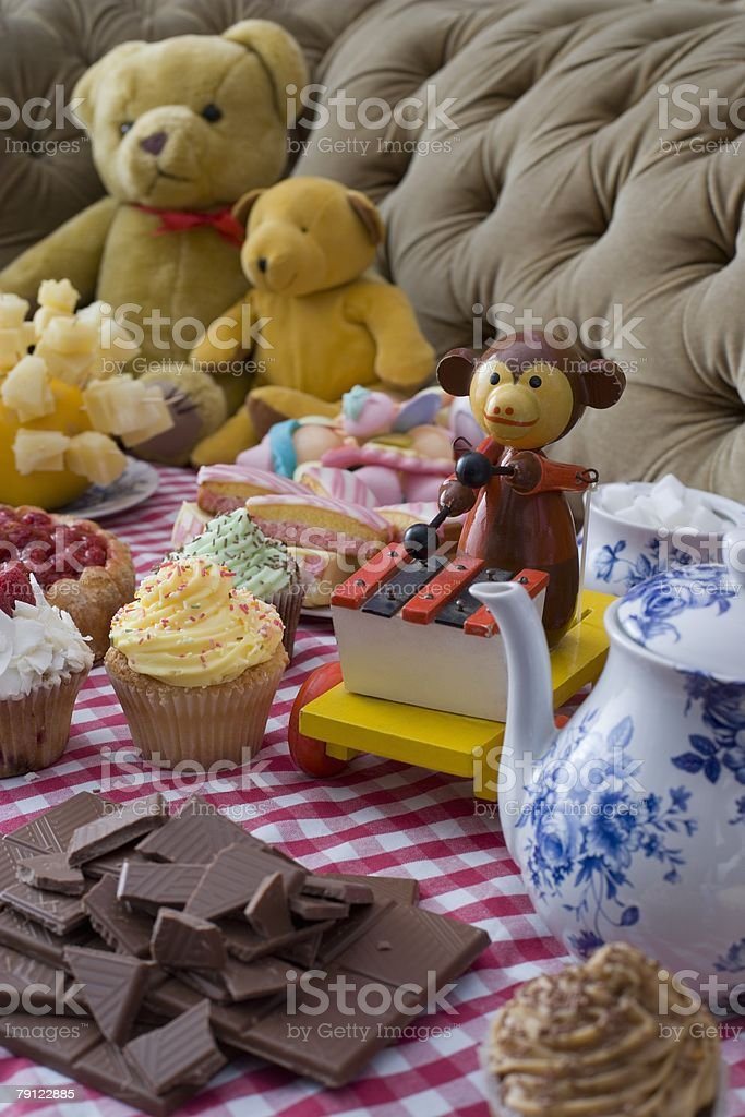 Toys at tea party 免版稅 stock photo