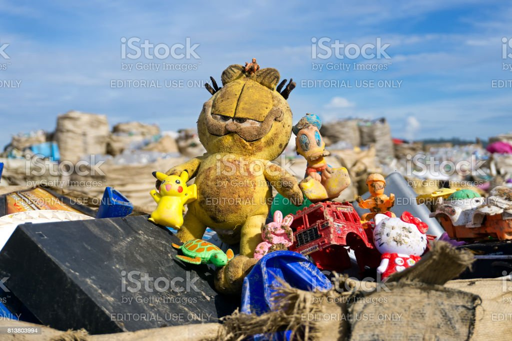 Toys at the Lanfill Site stock photo