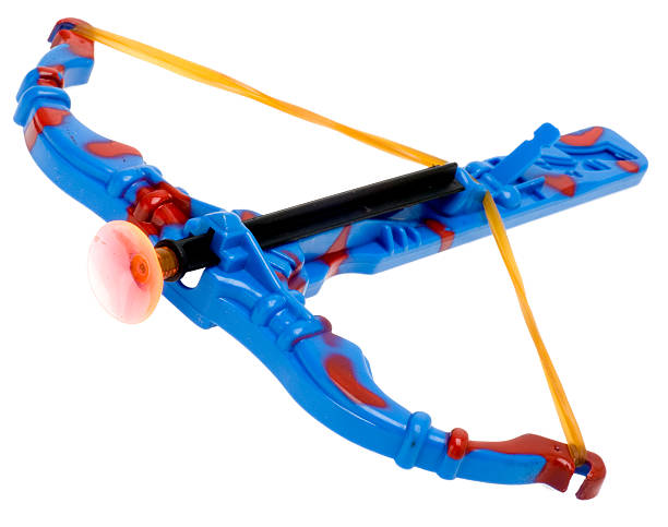 spielzeug armbrust - crossbow stock pictures, royalty-free photos & images