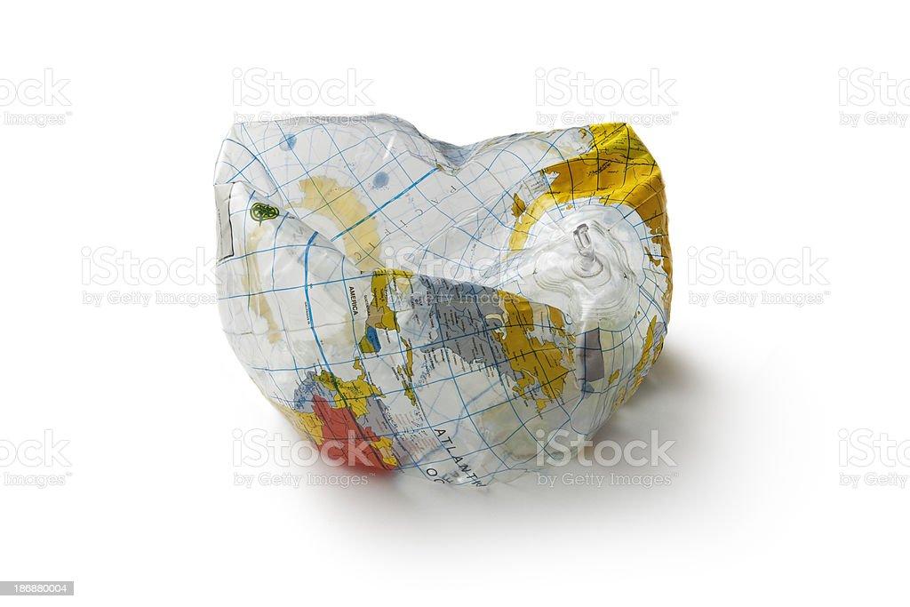 Toys: Globe Ball Isolated on White Background royalty-free stock photo