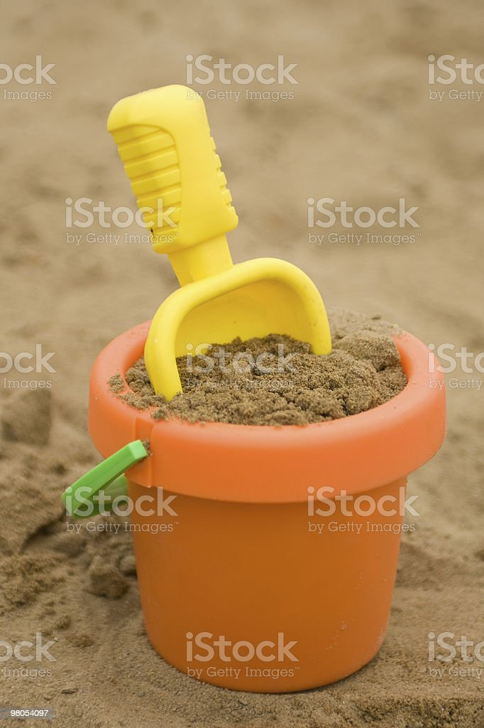 toys in sand royalty-free stock photo