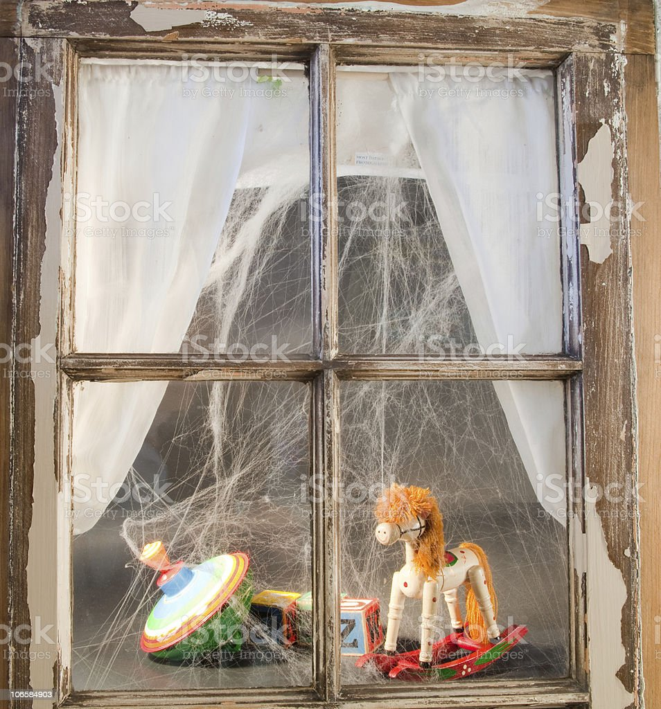 Toys In The Window royalty-free stock photo