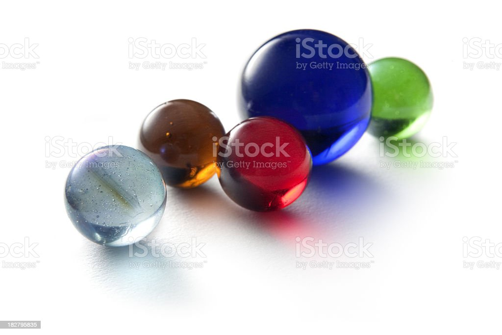 Toys: Marbles Isolated on White Background royalty-free stock photo