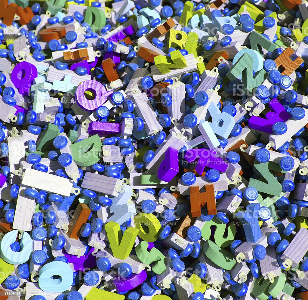 Toys of letter royalty-free stock photo