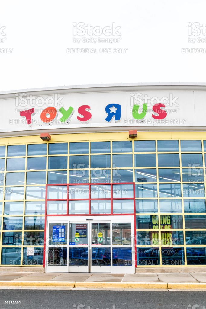 nice Toys R Us Sterling Part - 13: Toys R US store in Fairfax county, Virginia for children shop exterior  entrance with sign. Sterling ...