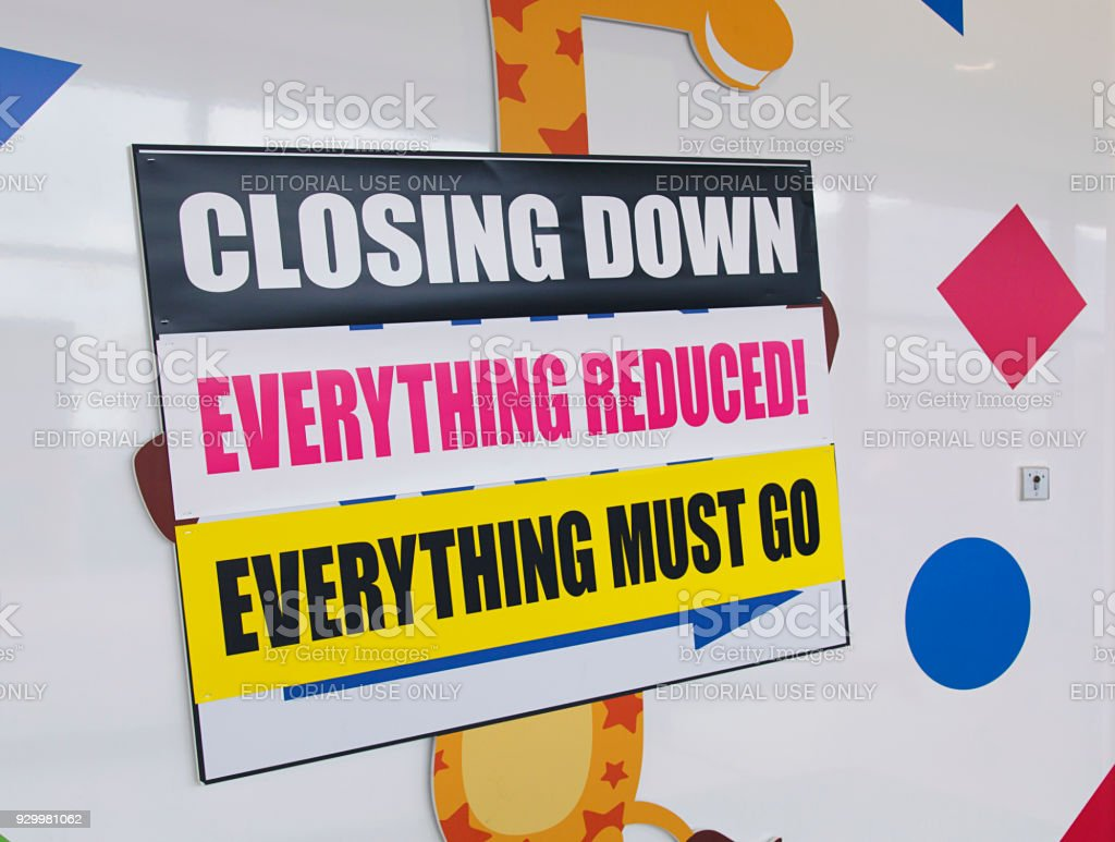 Toys R Us - Toy Shop Closure stock photo