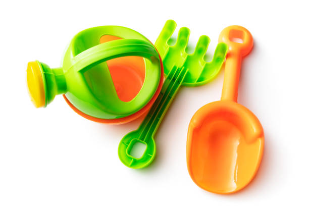 Toys: Sandbox Toys Isolated on White Background stock photo