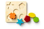 Toys: Shape Puzzle Isolated on White Background