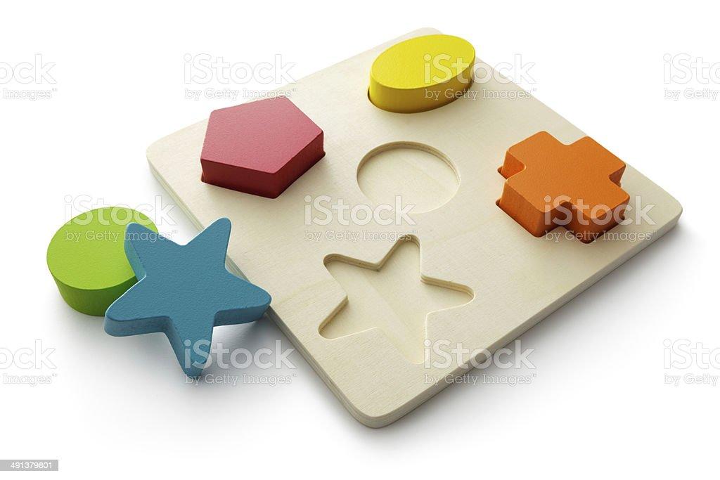 Toys: Shape Puzzle stock photo