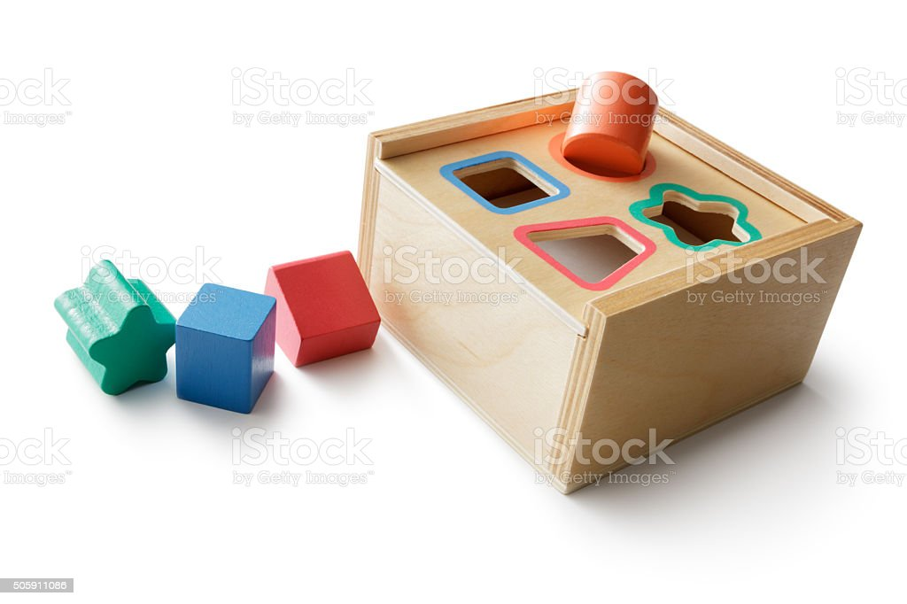 Toys: Shape Puzzle stock photo