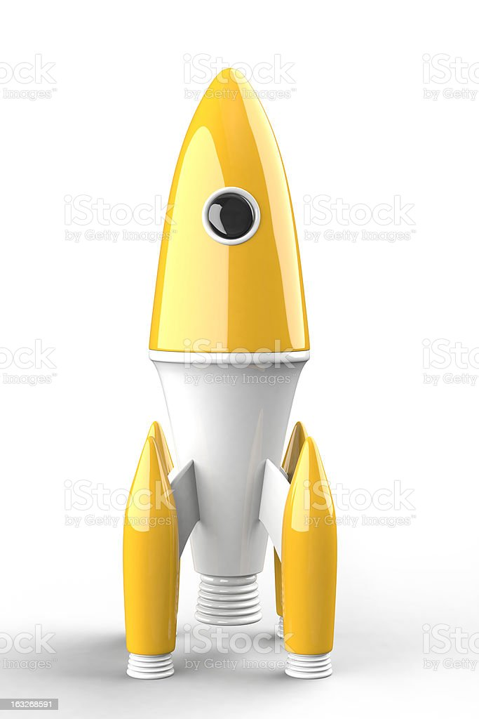 Spielzeug space rocket – Foto