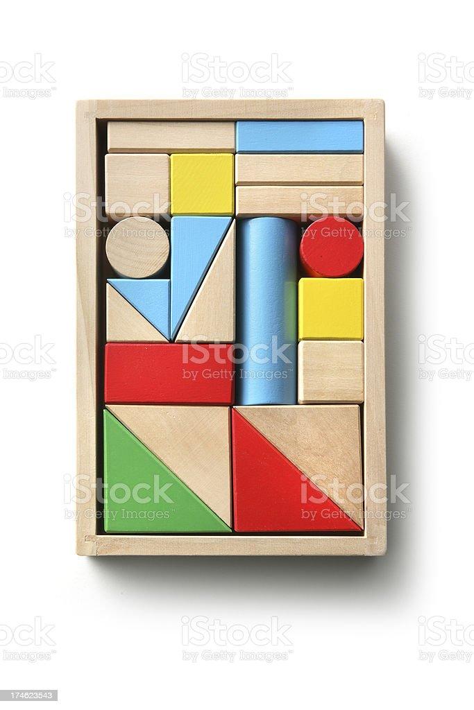 Toys: Toy Blocks royalty-free stock photo